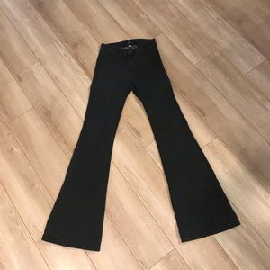 Just Black Flare Wide-Leg Jeans